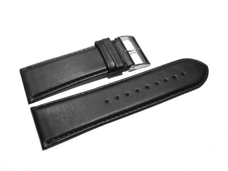 Bracelet Montre - Cuir De Veau Italien - Lisse - Noir - 26Mm serapportantà Liste Fabricant Canapé Italien
