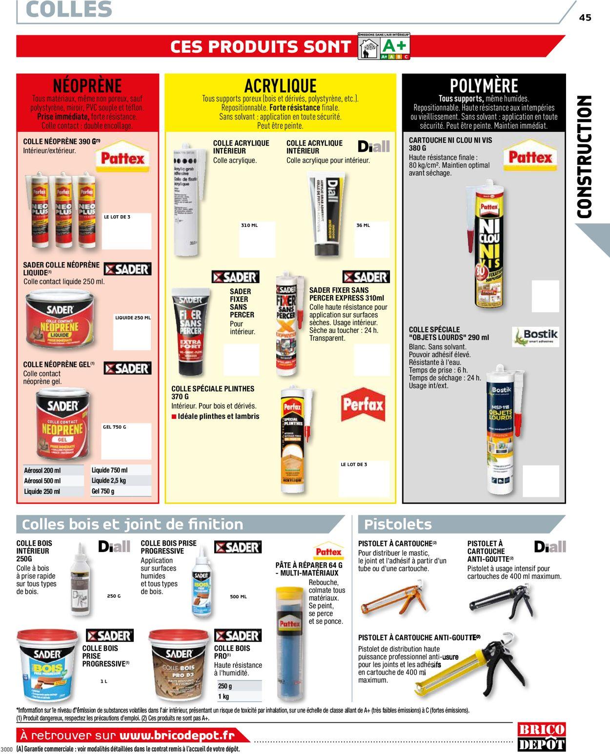Brico Dépôt Catalogue Actuel 20.08 - 03.03.2021 [45 ... serapportantà Goudron Liquide Brico Depot