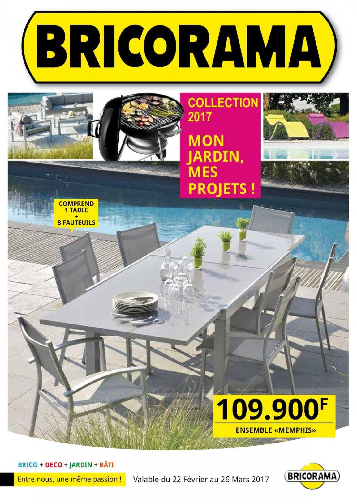 Bricorama Table De Jardin   Styles De Meubles tout Salon De Jardin Encastrable Mode De Vie Michigan 9 Pièces