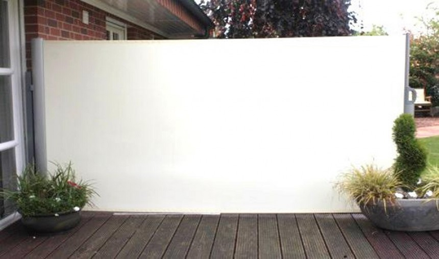 Brise Vue Retractable 4M - Agencement De Jardin Aux ... à Paravent Rétractable 4M
