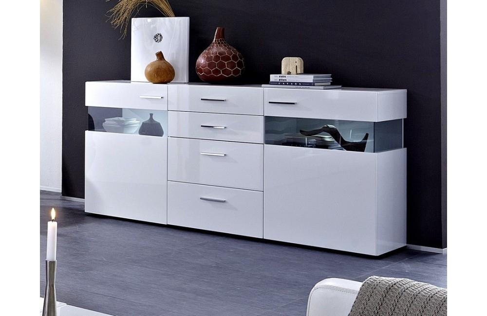 Buffet Bas Laque Blanc Design encequiconcerne Buffet Design Italien
