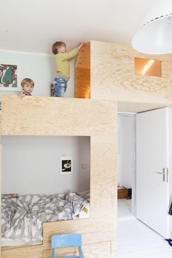 Bunk Beds (Avec Images) | Amenagement Chambre, Espaces ... intérieur Maisonnette Bois Camille