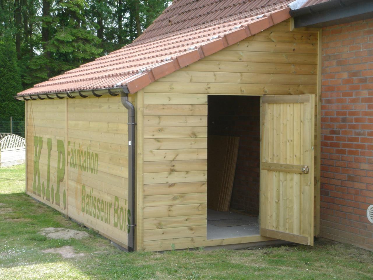 Cabane En Bois Garage - Mailleraye.fr Jardin tout Abri De Jardin 1 Pente 12M2
