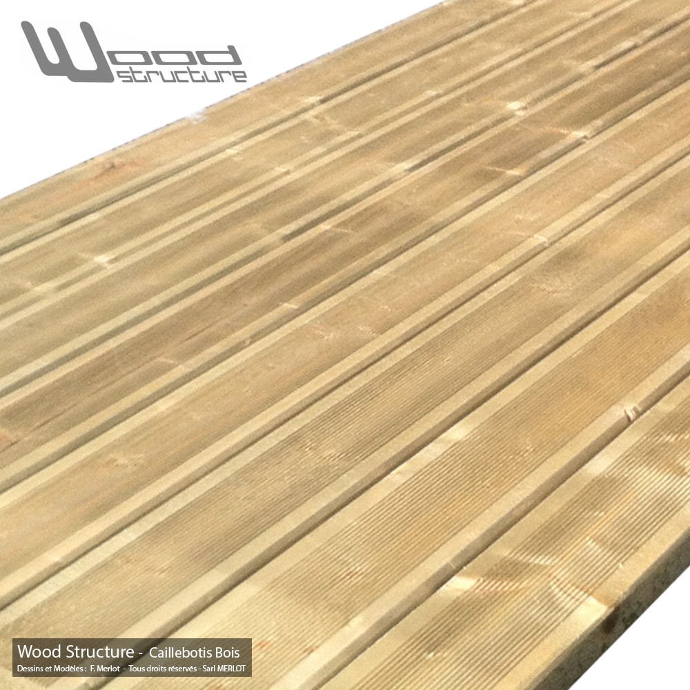 Caillebotis Bois Pour Terrasse - Prêt À Poser - Wood Structure destiné Caliboti Bois