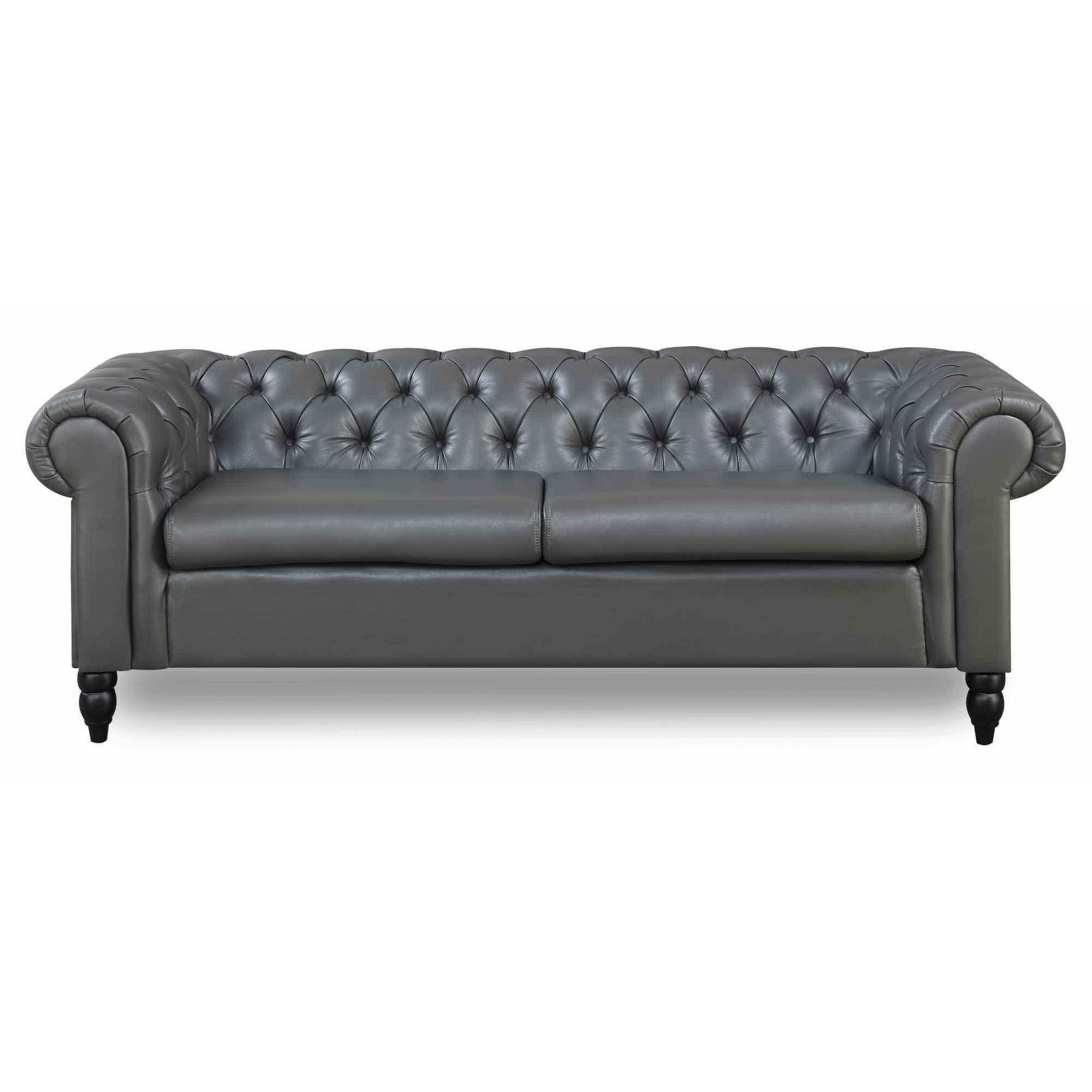 Canape Chesterfield 2 Places Gris Winston Chester Winston ... destiné Canape Winston But