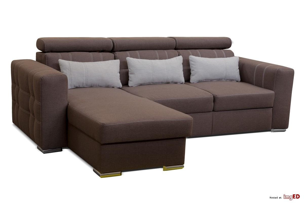 Canape D'Angle Design Convertible Lit Tissu Gris Foncé Marocco destiné Canapé D'Angle Jenna