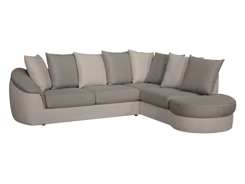 Canapé D'Angle Droit Fixe 5 Places En Tissu Boreal Coloris ... destiné Canape Premium Confort Gris Angle Droit