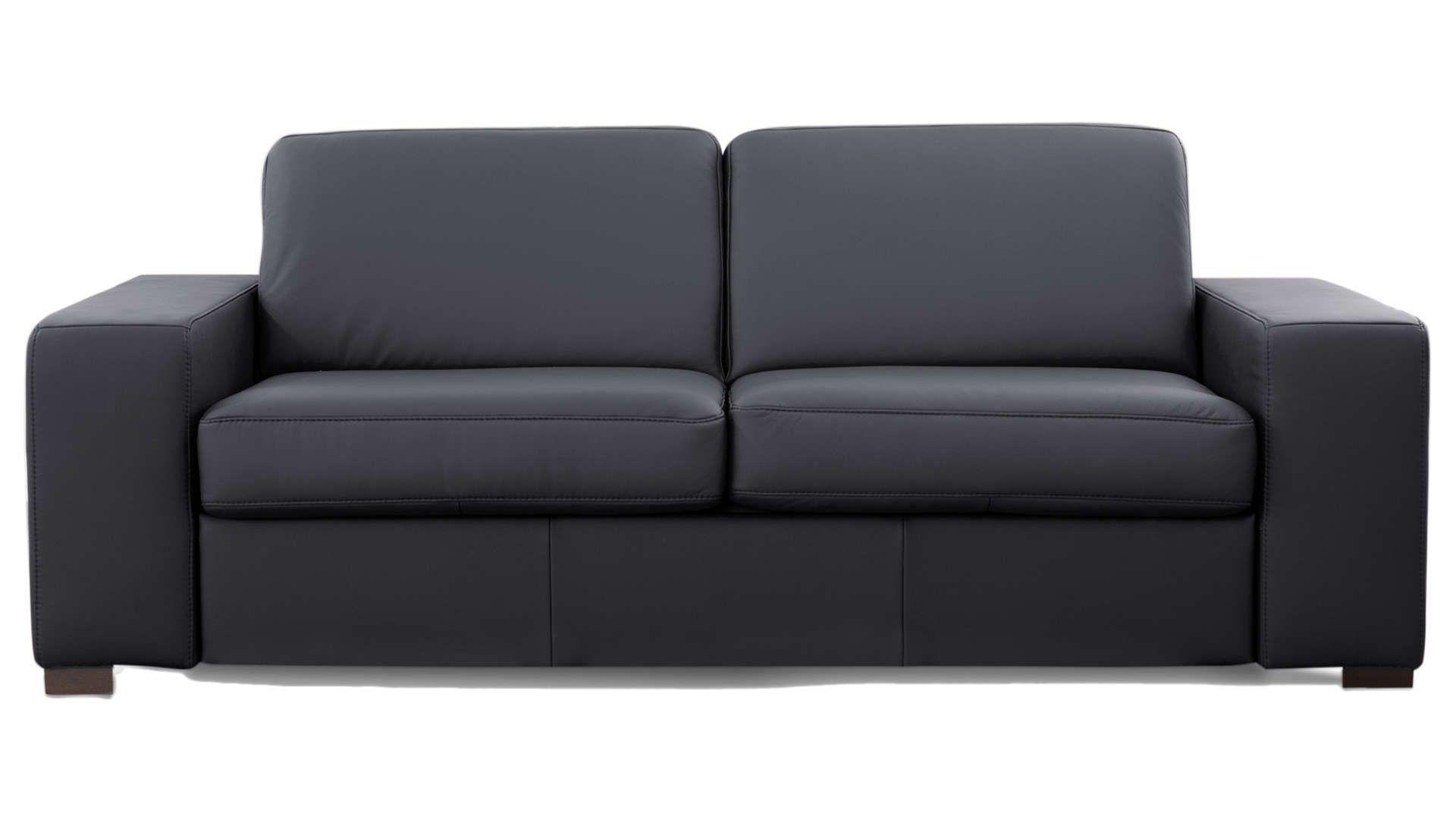 Canapé Droit Convertible 3 Places En Cuir Comfort Bultex ... à Canapé Divalit Bultex