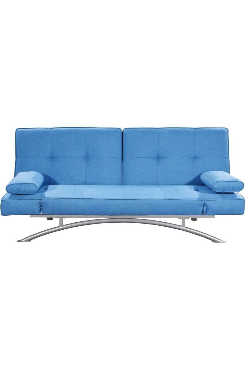 Canapé Marina Clic-Clac Microfibre - Bleu - Dimension Du ... concernant Clic Clac Dallas But
