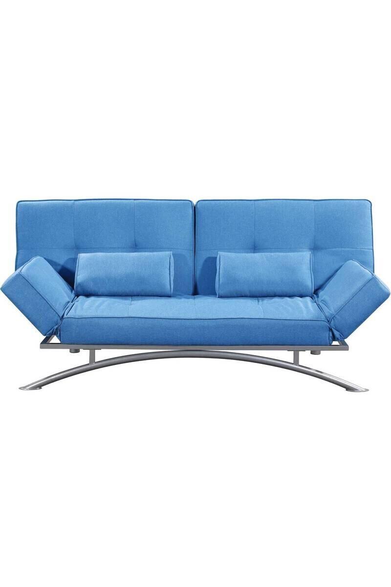 Canapé Marina Clic-Clac Microfibre - Bleu - Dimension Du ... dedans Clic Clac Dallas But