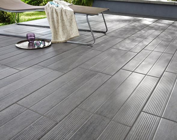 Carrelage De Sol Extérieur Gris Stipe Wood 29,8 X 59,8 Cm ... pour Carrelage Clipsable Exterieur