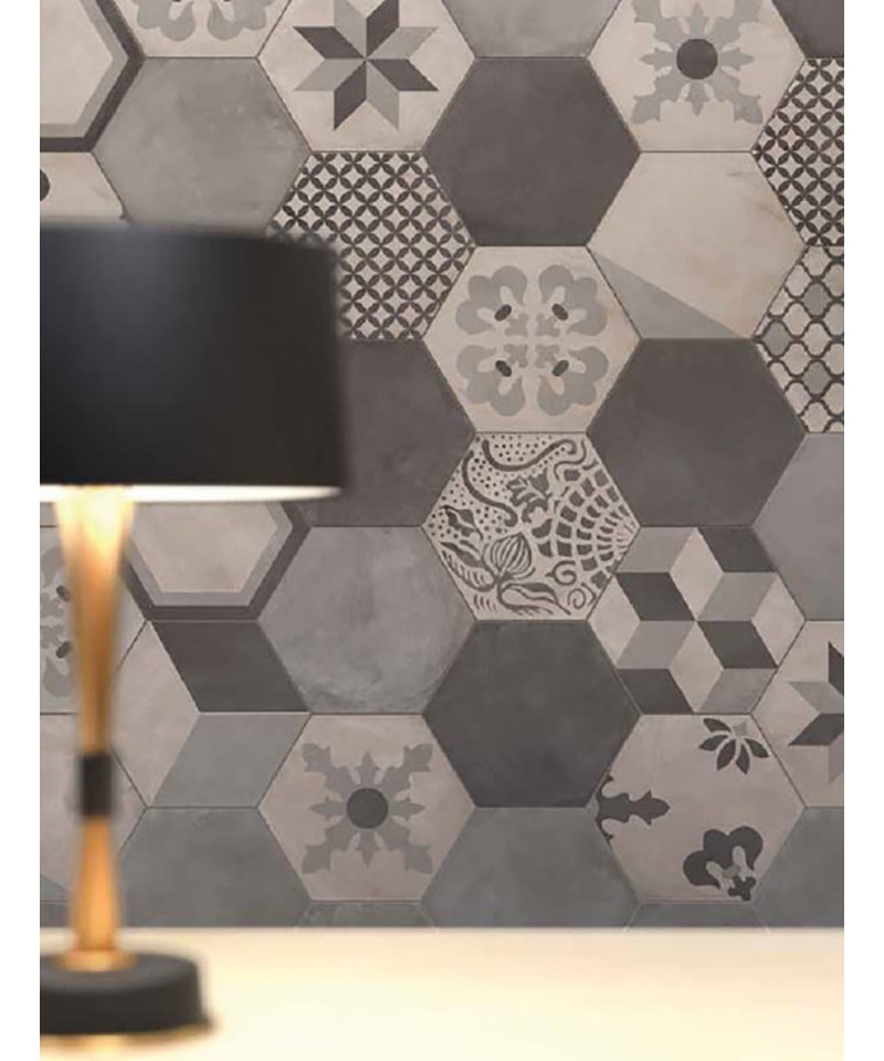 Carrelage Imitation Carreaux De Ciment En Hexagone Marque ... serapportantà Lino Imitation Carrelage Hexagonal