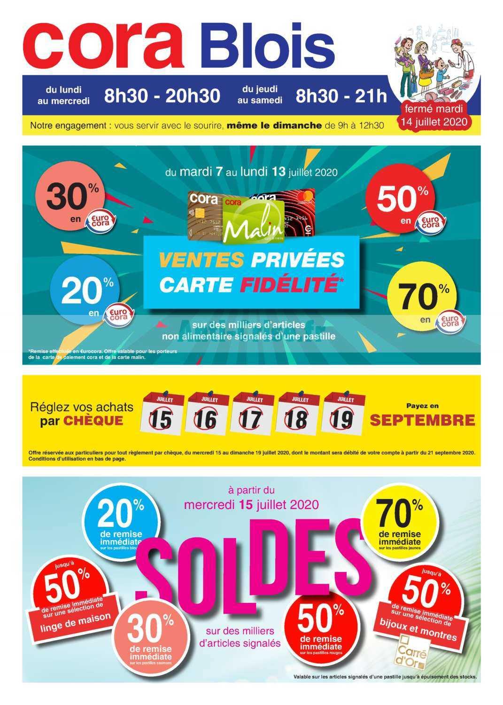 Catalogue Cora Du 15 Juillet Au 01 Août 2020 (Blois ... dedans Catalogue Piscine Cora 2020