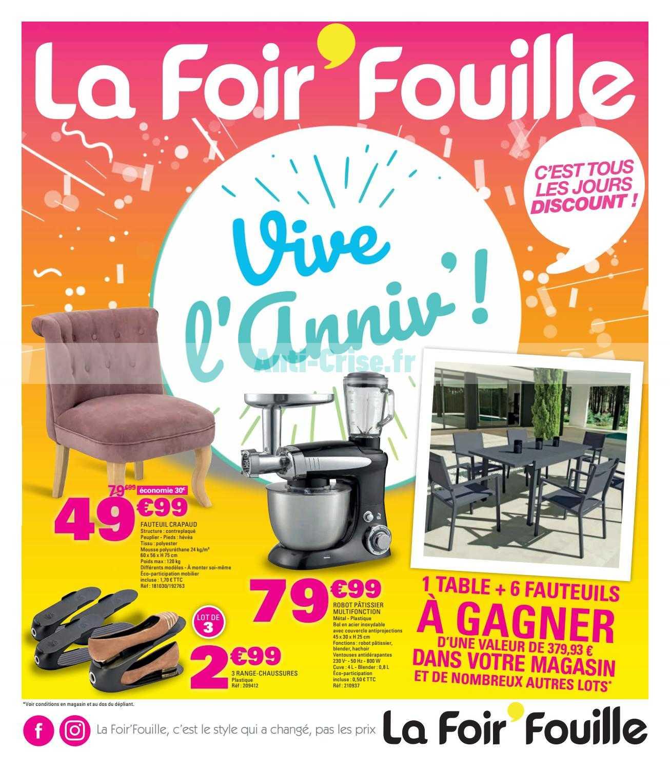 Catalogue La Foir'Fouille Du 20 Février Au 31 Mars 2019 ... dedans Pouf La Foir'Fouille