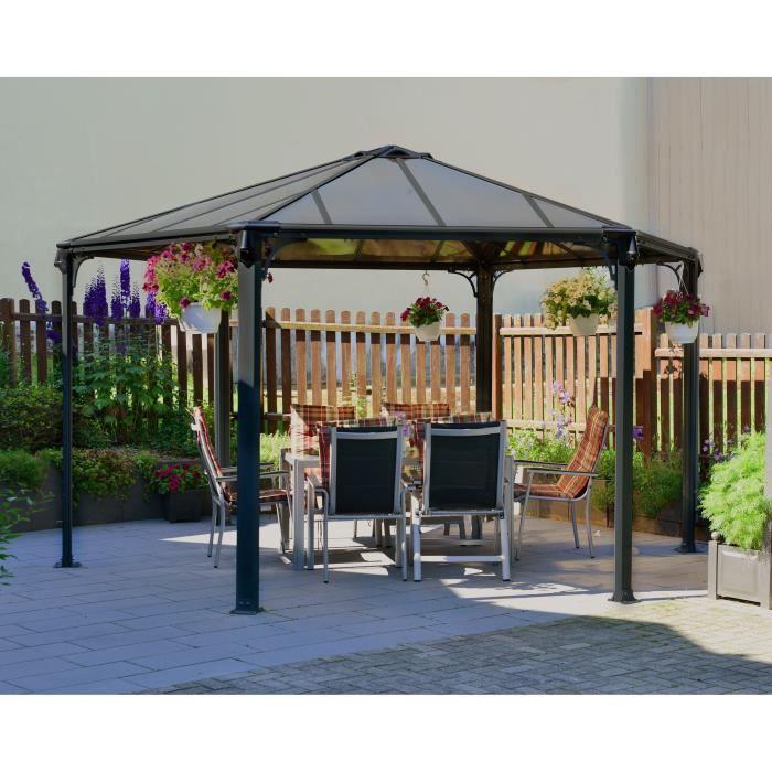 Cdiscount Tonnelle - Tritoo Maison Et Jardin tout Tonnelle Hexagonale Aluminium