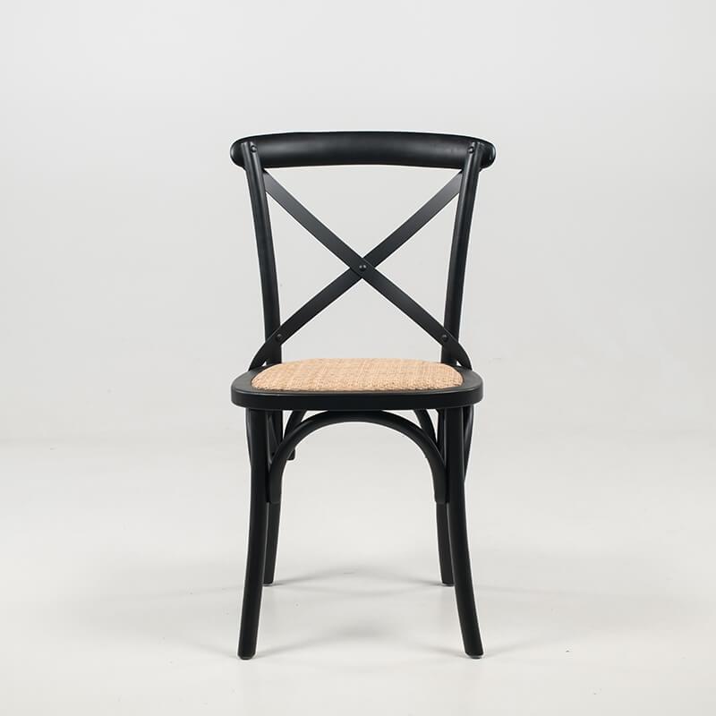 Chaise Bistrot En Bois Vintage Noir Et Assise Rotin ... avec Chaises Bistrot But