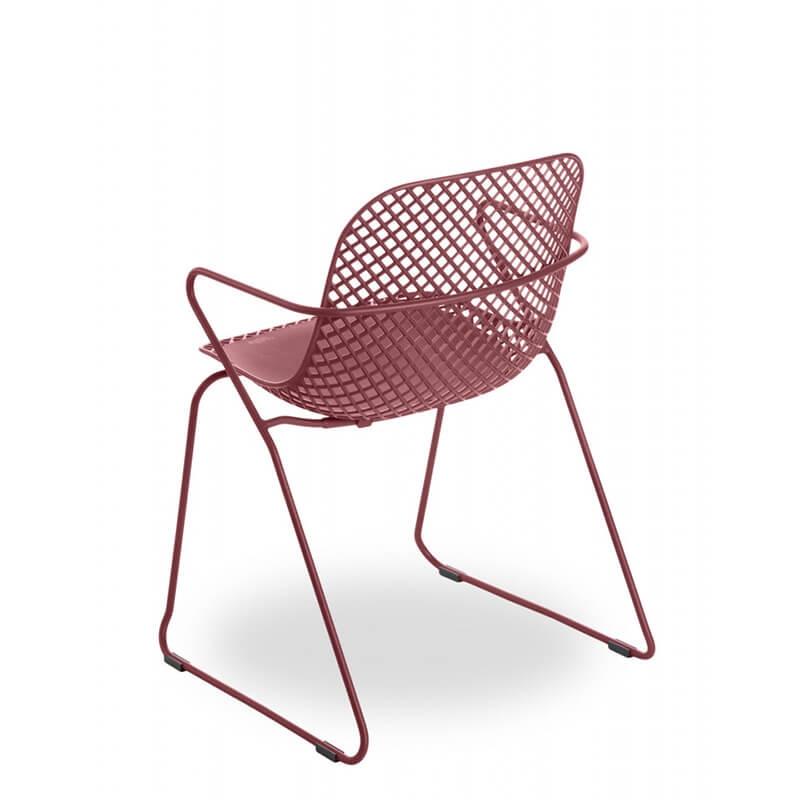 Chaise De Jardin Design Avec Accoudoirs Et Pieds Traîneau ... tout Date Braderie Grosfillex 2021