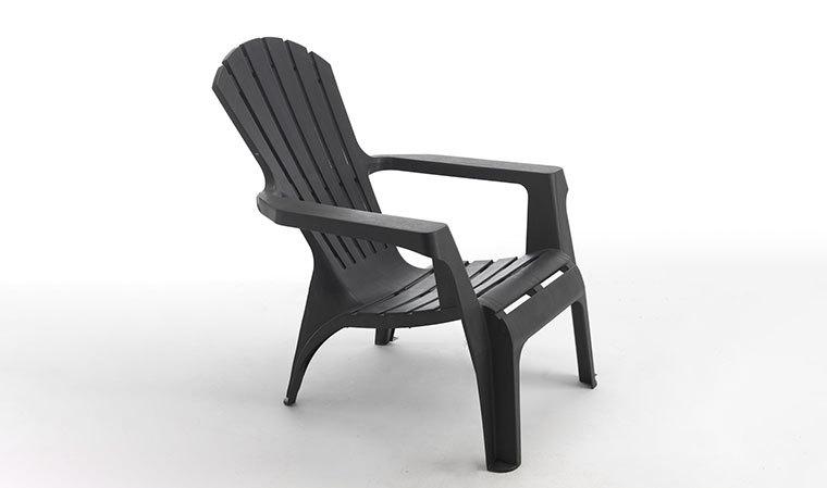 Chaise De Jardin Plastique Gris - Chaise-Tolix.fr tout Table Pliante Intermarché