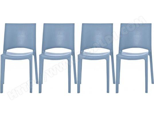 Chaise Domino Lot De 4 Chaises Crocs Bleu Pas Cher ... à Banquette Clic Clac Domino