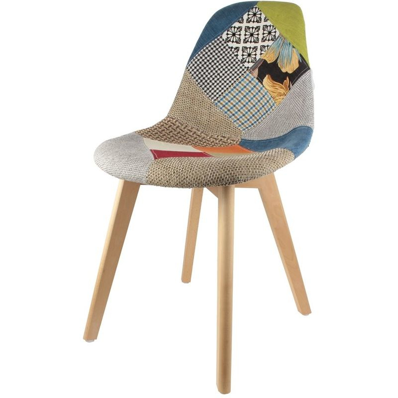Chaise Scandinave Patchwork - 4Chaise/Hd3090/Patchwork tout Chaise Scandinave Patchwork But