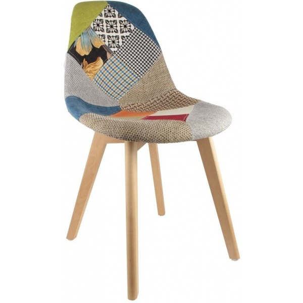 Chaise Scandinave Patchwork (Multicolore) dedans Chaise Scandinave Patchwork But