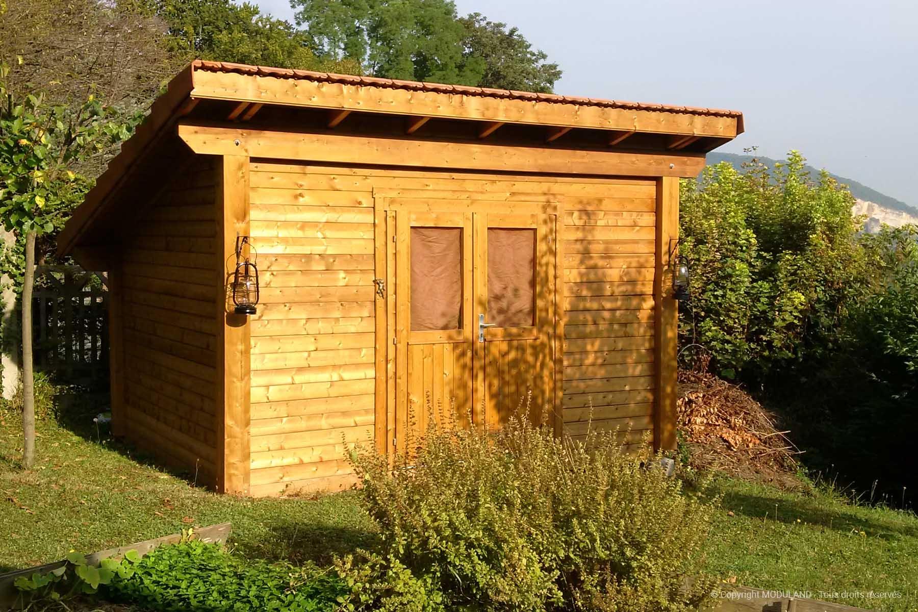 Chalet De Jardin Une Pente Vernon | Moduland destiné Abri De Jardin Une Pente Castorama