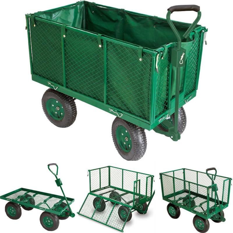 Chariot Remorque De Jardin Très Grande Capacité 300 Kg ... serapportantà Meilleur Chariot De Jardin