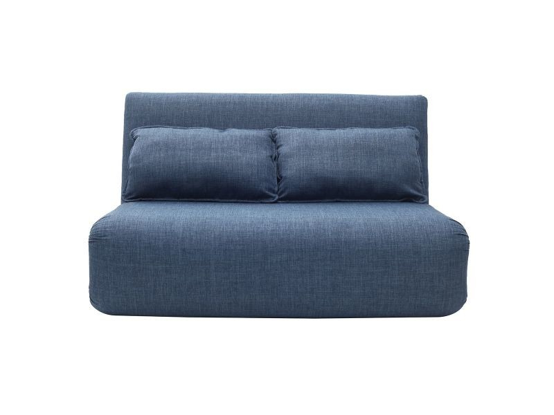 Chauffeuse Convertible 2 Places Design Bleu Sleeper ... dedans Chauffeuse Ikea 2 Places