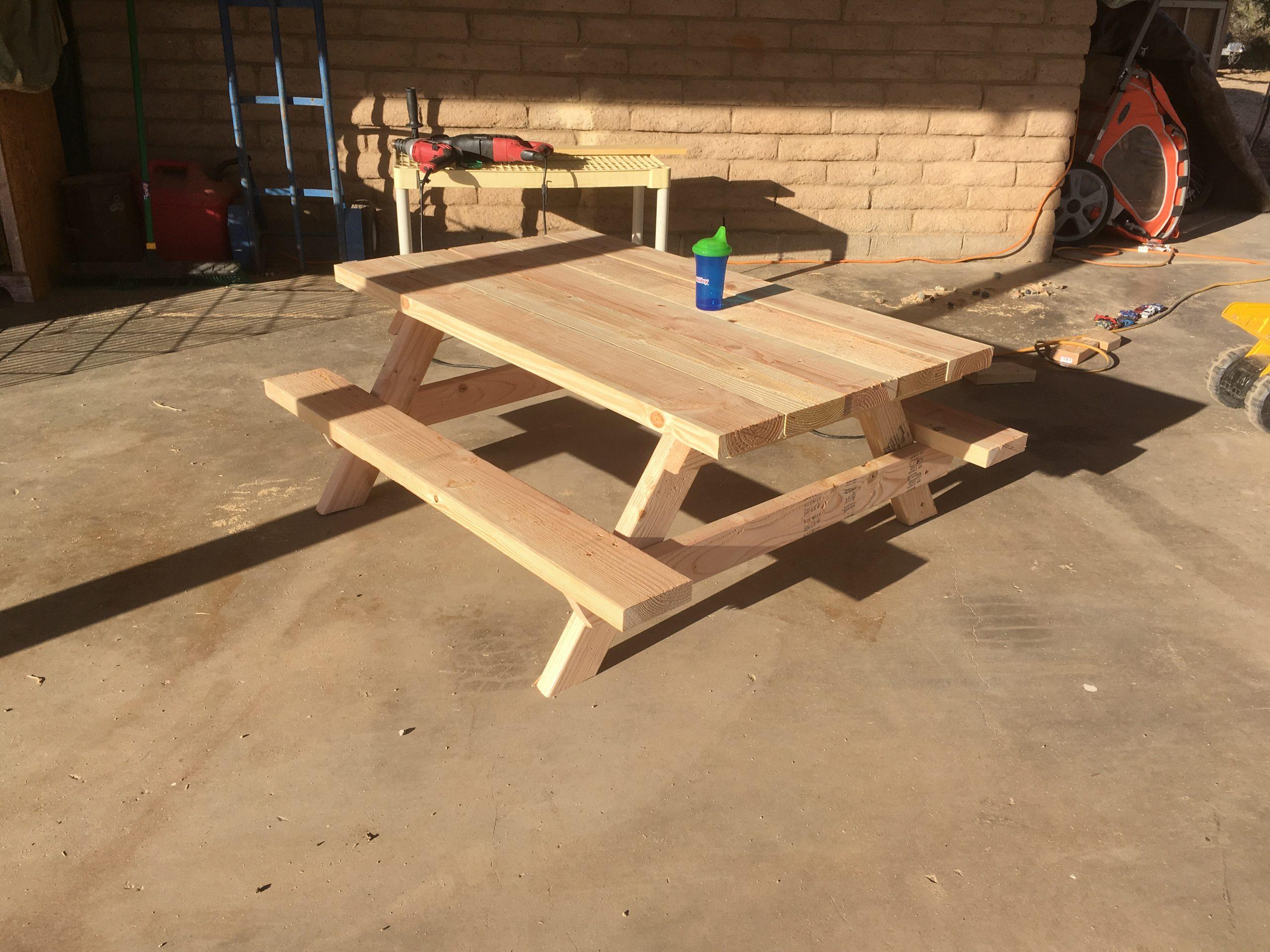 Children'S Picnic Table Plans - Pdf Download - Construct101 dedans Plan Table Picnic Pdf