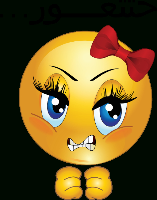 Clipart-Angry-Girl-Smiley-Emoticon-512X512-5670.Png (512 ... serapportantà Emoji Doigt D'Honneur Png