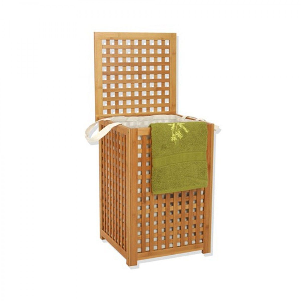 Coffre À Linge En Bambou | Coffre À Linge, Panier À Linge ... tout Coffre En Bois Ikea