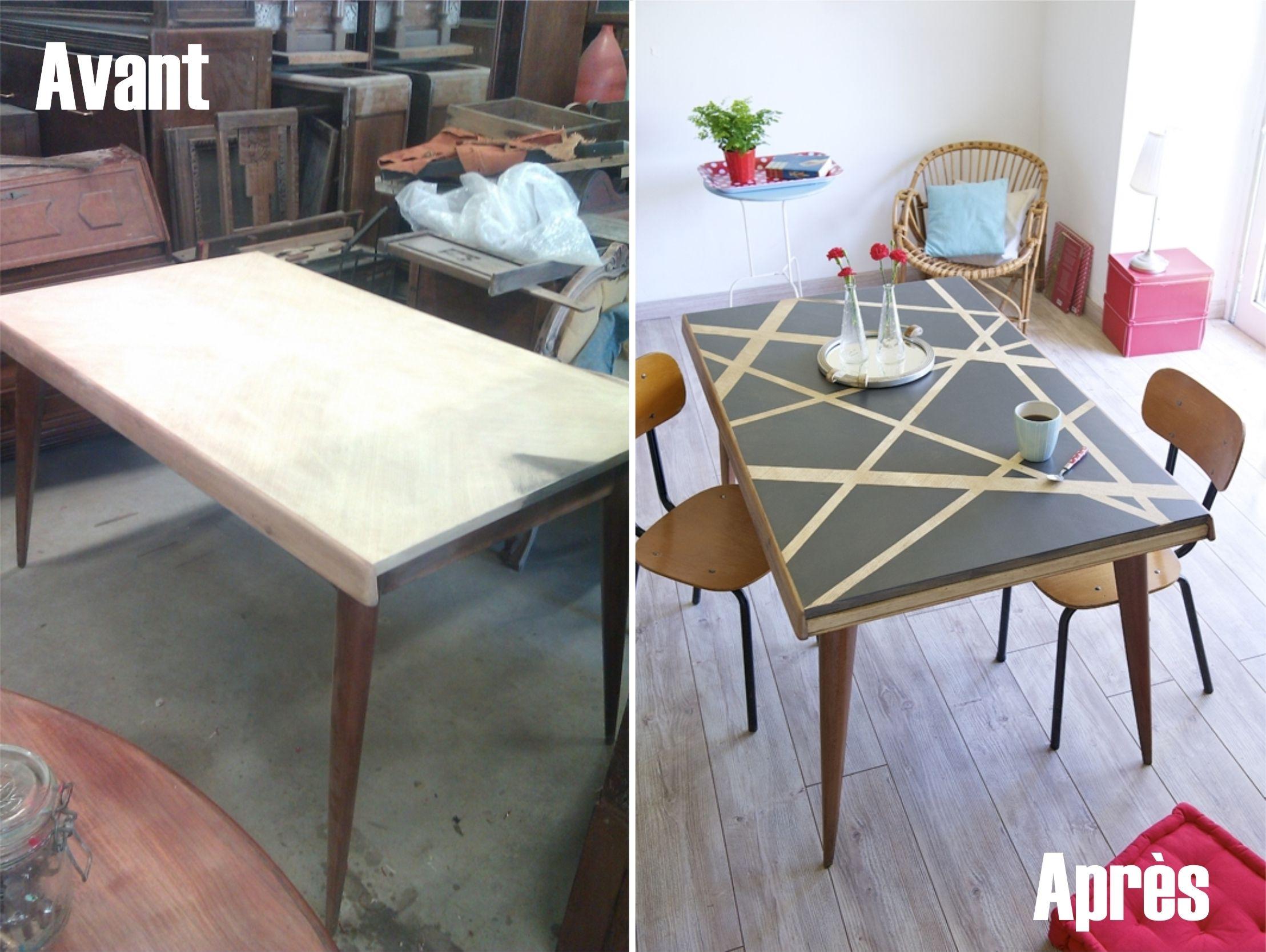 Comment Relooker Le Plateau D'Une Table ?   Customiser ... serapportantà Comment Fabriquer Une Table De Ferme En Bois