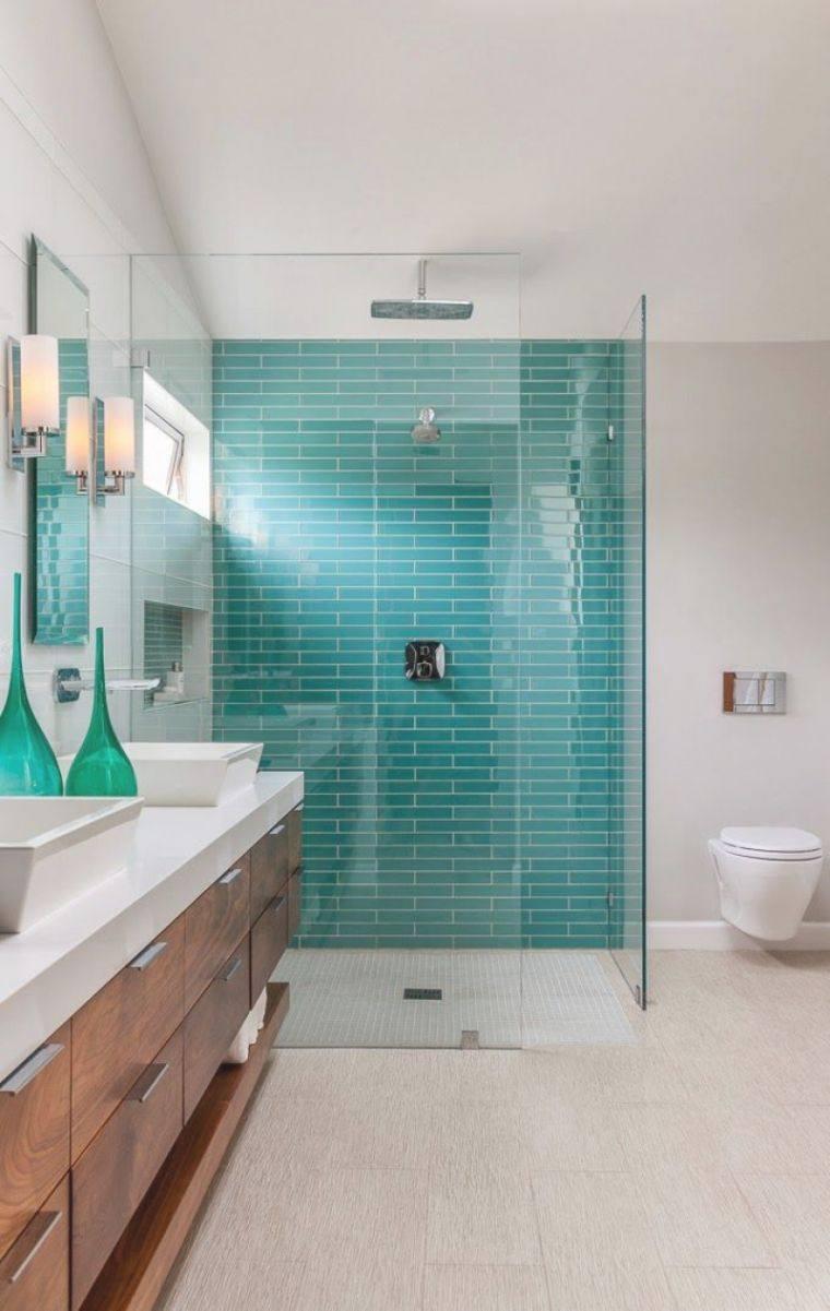 Comment Utiliser Le Vert Turquoise En Déco D'Intérieur ... dedans Accessoire Salle De Bain Bleu Turquoise