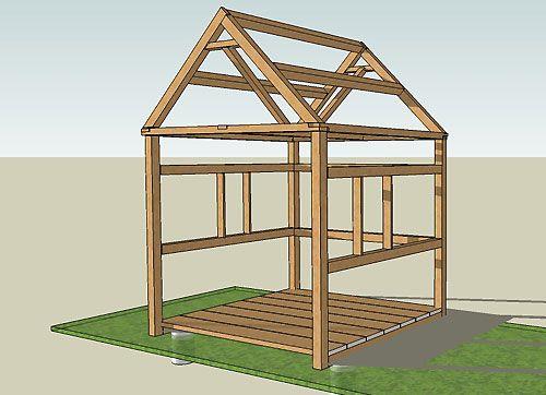 Construction-Abri-De-Jardin | Abri De Jardin, Construire ... destiné Plan Abri Jardin Bois Gratuit