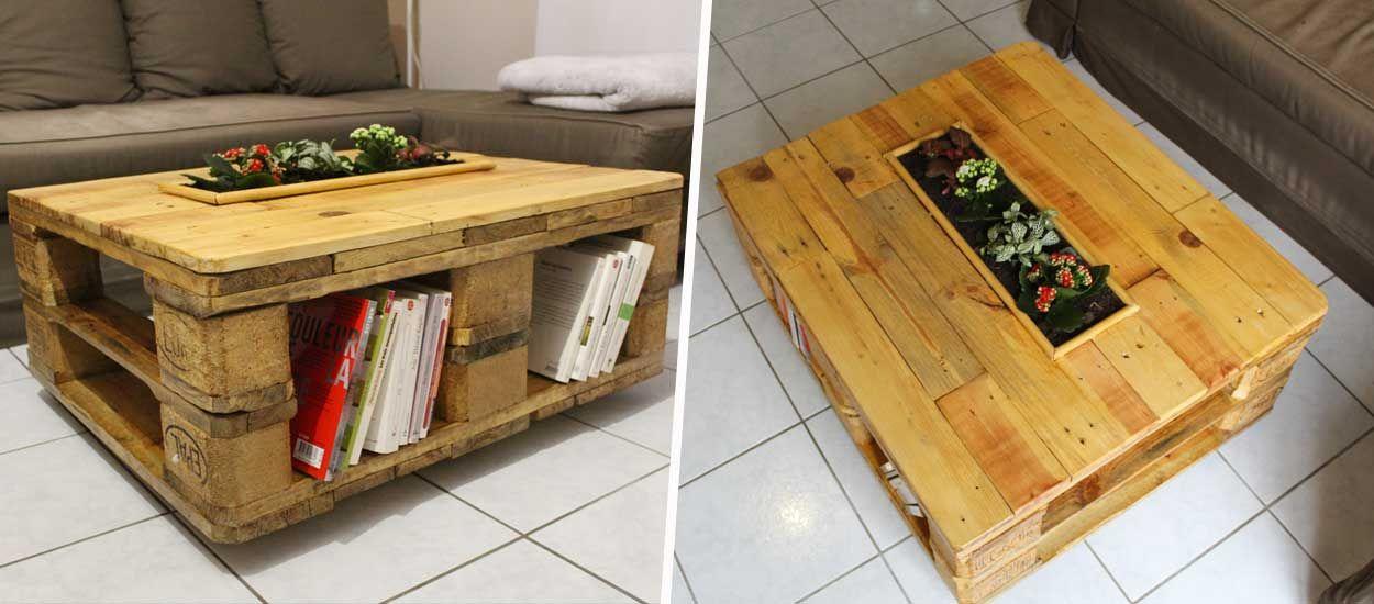 Construisez Vous Même Votre Table Basse En Palette Avec Ce ... concernant Coiffeuse En Palette Tuto