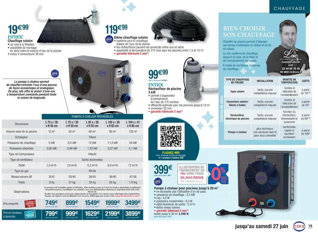 Cora Catalogue Actuel 14.04 - 27.06.2020 [19] - Catalogue ... tout Catalogue Piscine Cora 2020