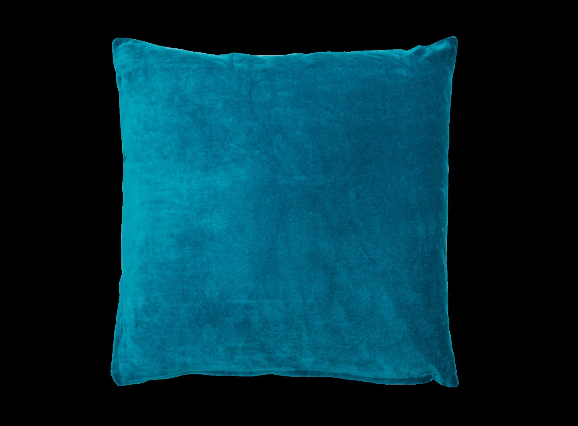 Coussin Velours 60X60 Bleu Canard Coussin 60 X 60 — Mikea ... tout Housse Coussin Velours 60X60
