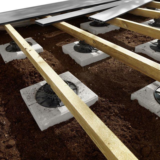 Dalle Stabilisatrice Pour Plot À Vérin Blooma | Dalle ... concernant Plot Beton Terrasse