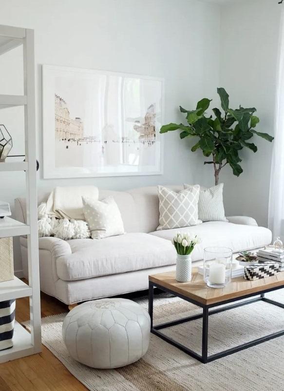 Décoration Salon Beige Et Blanc : Nos Idées Et ... tout Salon Beige Et Blanc