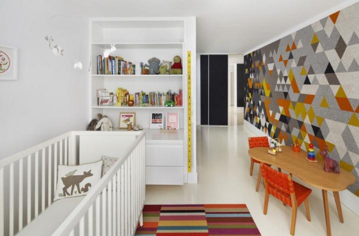 Décorer Appartement Papier Peint Géométrique Multicolore intérieur Carrelage Pintura Noir