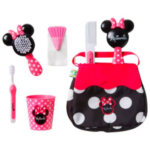 Disney Baby Minnie Mouse Purse Grooming Kit, 14 Pc ... concernant Minnie Canapé Mousse Sofa - Disney Baby