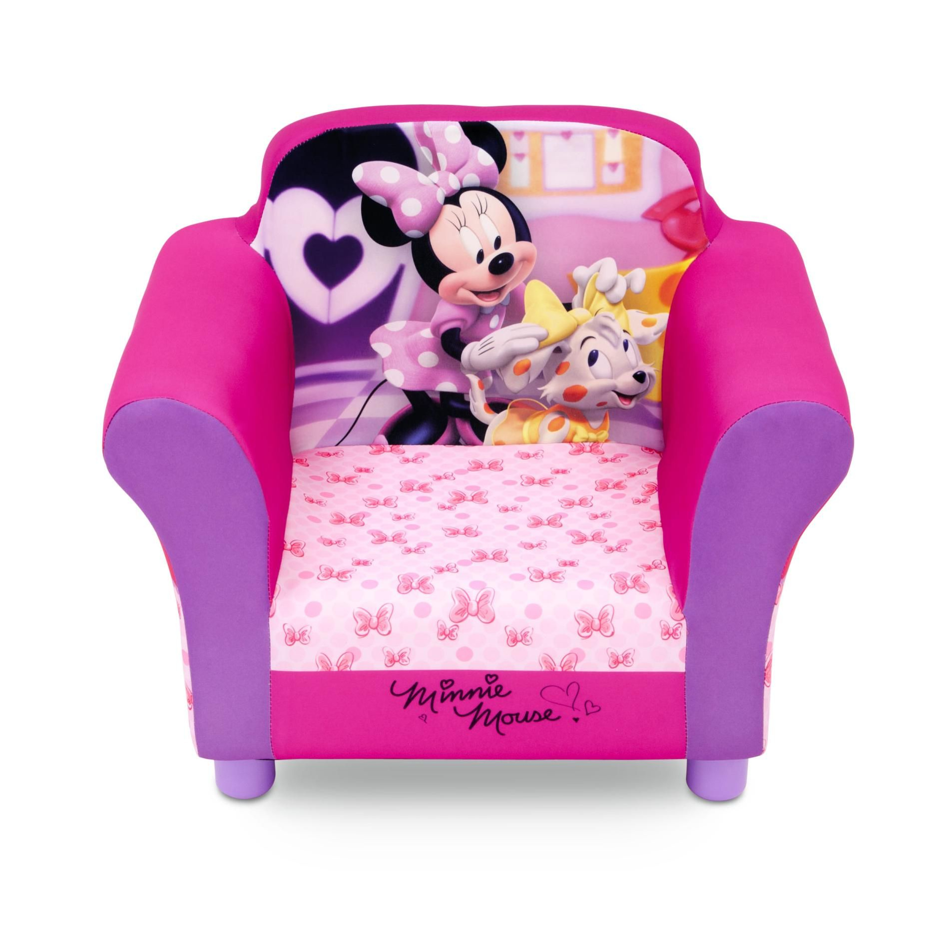 Disney Baby Minnie Mouse Toddler Girl'S Upholstered Chair ... pour Minnie Canapé Mousse Sofa - Disney Baby