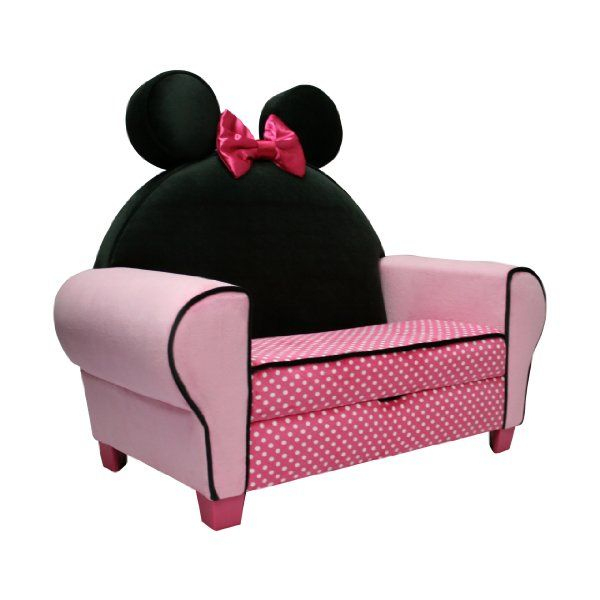 Disney Deluxe Sofa With Storage, Minnie Mouse:amazon:baby ... intérieur Minnie Canapé Mousse Sofa - Disney Baby