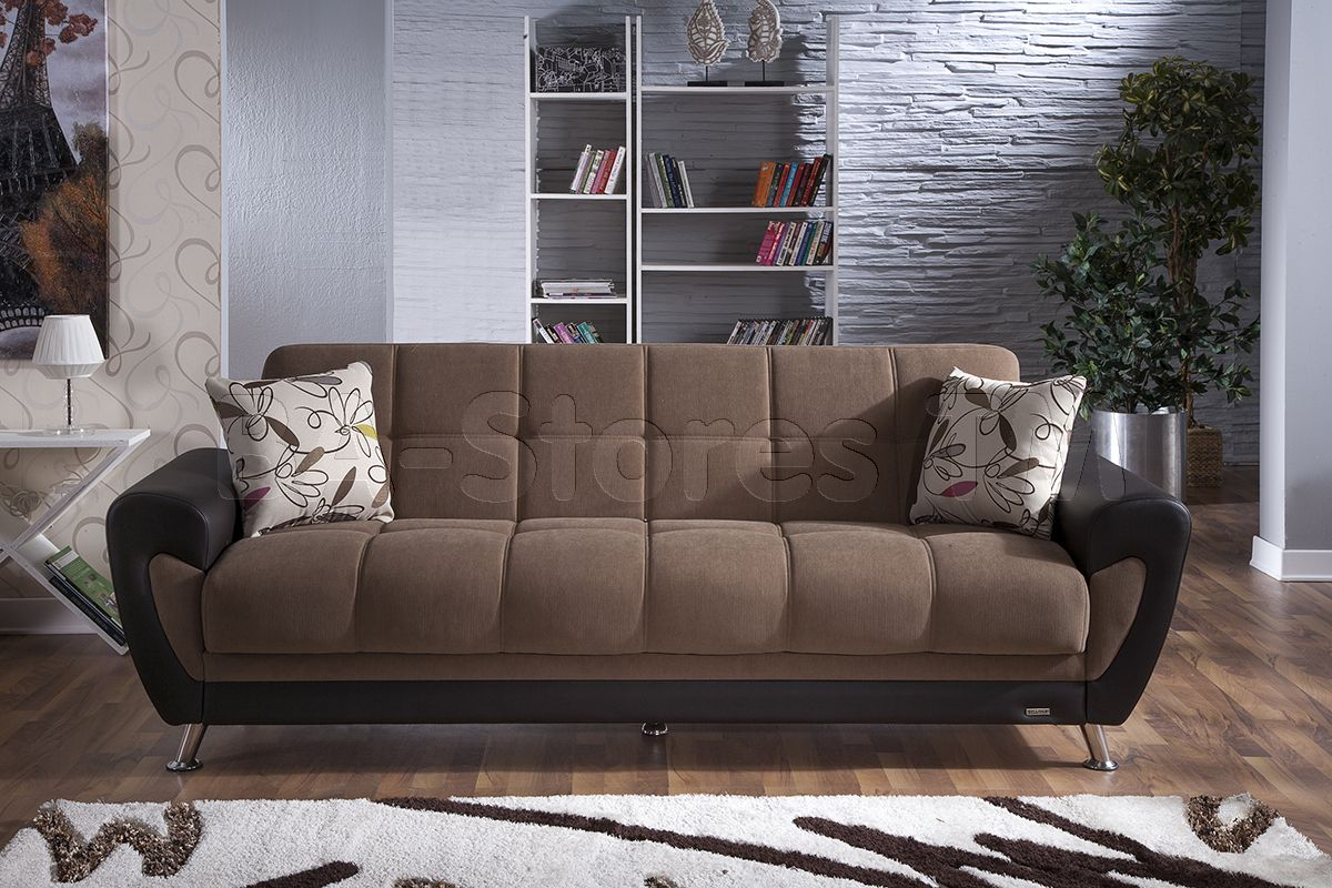 Duru Sofa Bed Sleeper In Optimum Brown By Istikbal (With ... serapportantà Istikbal Canapé Convertible