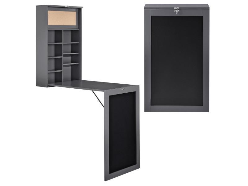 [En.casa]® Table Murale - Pliable Mdf Bureau Pour Déplier ... à Bureau Pliable Conforama
