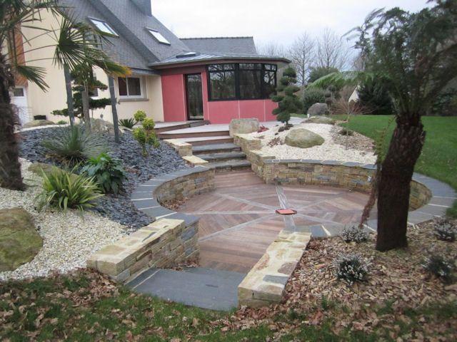Épinglé Par Busnel Sur Aménagement Jardin | Amenagement ... avec Faire Soi-Même Sa Terrasse De Mobil Home