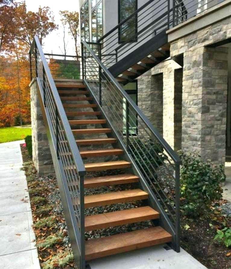 Escalier Exterieur Bois Maison Design Escalier Exterieur ... concernant Panneau Décoratif Métal Extérieur Leroy Merlin