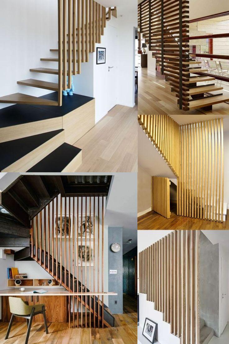 Escaliers Avec Tasseaux Bois   Escalier Relooking ... intérieur Fermer Un Balcon Avec Du Plexiglas