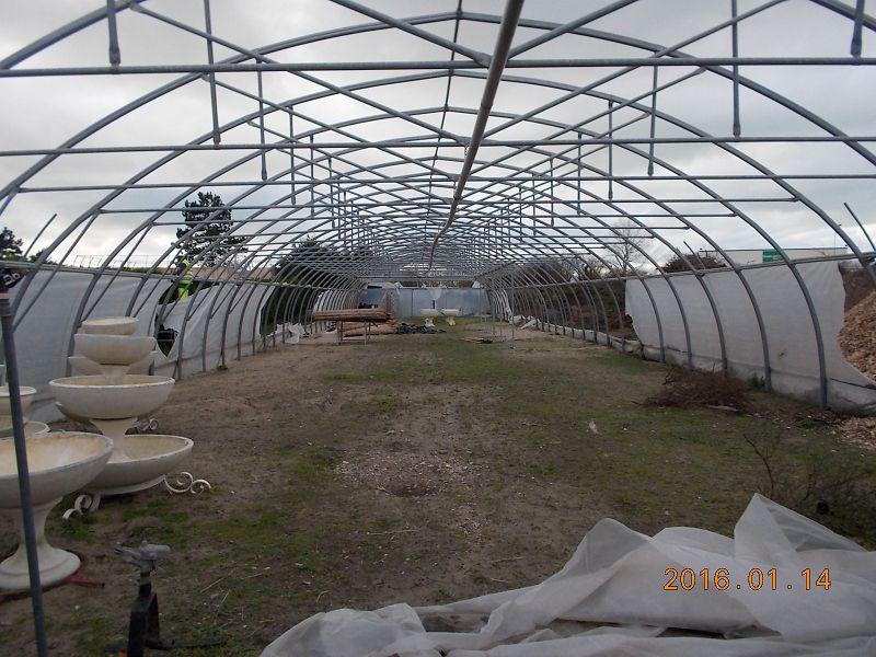 Espaces Verts / Jardinage - Serre Tunnel A Demonter ... encequiconcerne Serre Horticole D'Occasion
