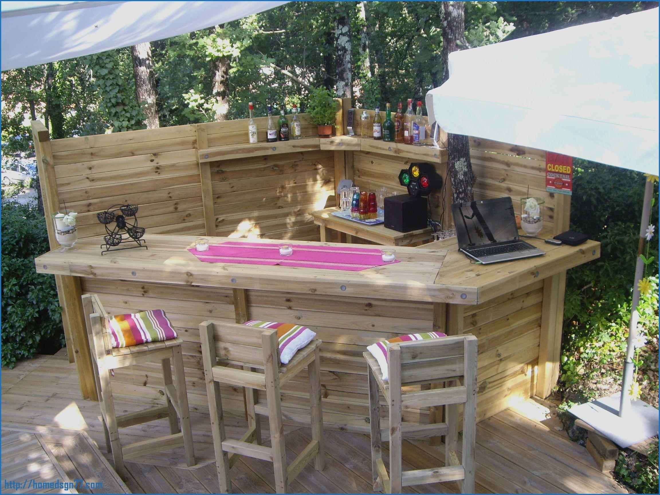 Fabriquer Un Bar Exterieur Construire En Bois D De Jardin ... encequiconcerne Fabriquer Un Rolling-Deck